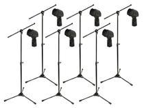 Kit com 6 Suportes Pedestal para Microfone RMV PSU 142 + 6 Cachimbos -
