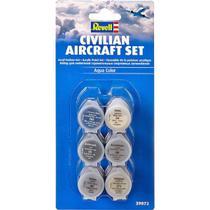 Kit com 6 Tintas para Modelos de Aviões Civis (Civilian Aircraft Set) - REV 39072 - Revell