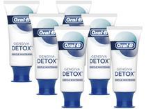 Kit com 6 Unidades Creme Dental com Flúor Oral-B - Gengiva Detox Gentle Whitening 102g Cada