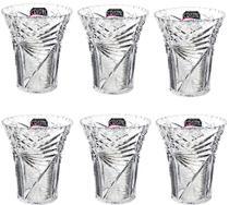 Kit Com 6 Vasos Cristal Borda Lisa Incolor Mitro - Xplast