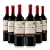 Kit com 6 Vinhos Tinto Seco Cabernet Sauvignon Reservado 750 ml - Concha Y Toro -