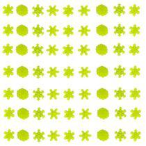 Kit com 63 Adesivos que brilham no Escuro - Floco de Neve Verde - Novo Sec