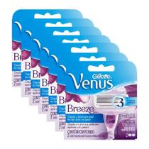 Kit Com 7 Cargas Gillette Venus Breeze Com 2 Unidades -