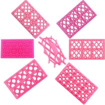 Kit Com 7 Marcadores Rosa Para Confeitaria Artesanato Biscuit - Planeta