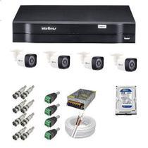 Kit com  8 Câmeras de segurança HD Protec e Dvr 8 Canais Intelbras -