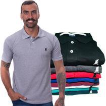 Kit com 8 Camisas Gola Polo Masculina Original Polo CLUB BR -