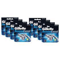 Kit com 8 Cargas Gillette Sensor Excel c/ 2 unidades -