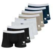 Kit com 8 Cuecas Boxer de Cotton 7.0 - Polo Match