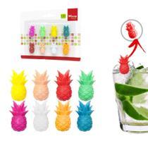 Kit com 8 marcadores para copos e taças de silicone - Wincy