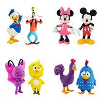 Kit com 8 Mordedor para Bebê Macio - Mickey Disney e Galinha Pintadinha - La Toy