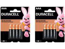 Kit com 8 Unidades de Pilha Alcalina AAA Duracell -