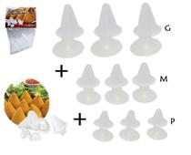 Kit com 9 formas de Coxinhas P-M-G - O Jeito Prático e Rápido de Fazer Coxinhas - Maxximo