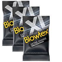 Kit com 9 Preservativo Blowtex Extra Grande c/ 3 Un Cada -
