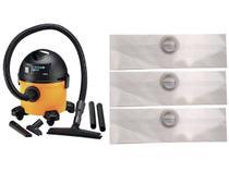 Kit Com 9 Sacos Descartáveis Aspirador Pó Lavor Wash Compact - Oriplast