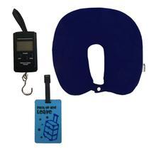 Kit com Almofada de Pescoço Azul, Balança e Tag para Mala - Cruzeiro