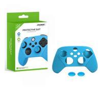 Kit com Capa e Par de Grips em Silicone azul Compatível com Controle Series X / S - Dobe