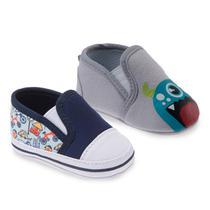 9d6da506e Kit com Dois Sapatos Masculino Cinza e Azul- Pimpolho -
