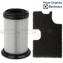 Kit com Filtro Hepa mais Filtro Exaustão Aspirador Electrolux Ergolite Litef -