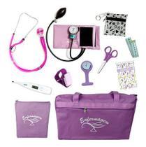 Kit Com Porta Jaleco Para Enfermagem Completo - Lindo - PA MED / G-Tech