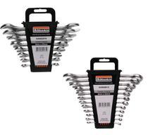 Kit Combo Chaves Fixa E Combinadas 6-22mm 20Pçs STARFER -