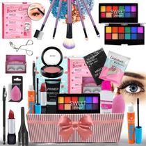 Kit Combo De Maquiagem Para Presente Com Caixa Maquiagem Top - Bazar Na Web