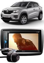 Kit Combo DVD Pioneer AVH-A208BT + Moldura de Painel 2 Din + Câmera de Ré Renault Kwid -