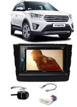 Kit Combo DVD Pioneer AVH-A208BT + Moldura de Painel 2 Din + Chicote C/ Adaptador de Antena + Câmera de Ré Hyundai Creta 2017 -