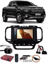 Kit Combo DVD Pioneer AVH-A208BT + Moldura de Painel 2 Din + Chicote + Câmera de Ré + Sintonizador TV Digital E-Tech Fiat Toro -