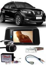 Kit Combo DVD Pioneer AVH-G218BT + Moldura de Painel 2 Din + Câmera de Ré Nissan Kicks Versão S -
