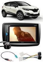 Kit Combo DVD Pioneer AVH-G218BT + Moldura de Painel 2 Din + Chicote + Câmera de Ré + Sintonizador TV Digital E-Tech Renault Captur -