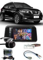 Kit Combo DVD Pioneer AVH-G228BT + Moldura de Painel 2 Din + Câmera de Ré Nissan Kicks Versão S -