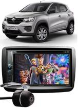 Kit Combo DVD Pioneer AVH-G228BT + Moldura de Painel 2 Din + Câmera de Ré Renault Kwid -