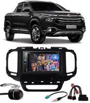 Kit Combo DVD Pioneer AVH-G228BT + Moldura de Painel 2 Din + Chicote + Câmera de Ré Fiat Toro -