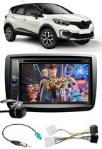 Kit Combo DVD Pioneer AVH-G228BT + Moldura de Painel 2 Din + Chicote + Câmera de Ré + Sintonizador TV Digital E-Tech Renault Captur -