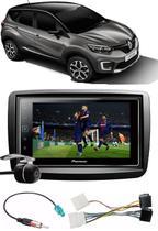 Kit Combo DVD Pioneer SPH-DA138TV + Moldura + Chicotes + Câmera de Ré Renault Captur -