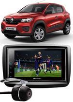 Kit Combo DVD Pioneer SPH-DA138TV + Moldura de Painel 2 Din + Câmera de Ré Renault Kwid -