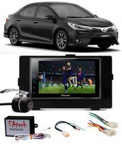 Kit Combo DVD Pioneer SPH-DA138TV + Moldura de Painel 2 Din + Chicote C/ Adaptador de Antena + Interface + Câmera de Ré Toyota Corolla GLI 2017 2018 -