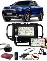 Kit Combo DVD Player E-Tech + Moldura de Painel 2 Din + Chicote + Câmera de Ré + Sintonizador TV Digital Fiat Toro -