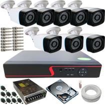 Kit Completo 8 Câmeras de Monitoramento Infravermelho com Gravador Dvr Stand Alone Acesso Nuvem P2P - E-Think