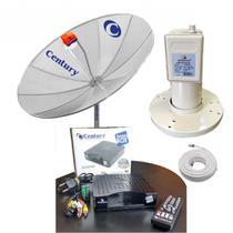 Kit Completo Antena Parabólica Century 1,5m 2 Receptor Nano -