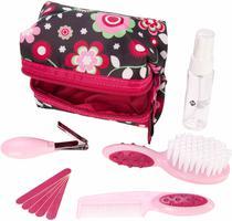 Kit Completo de Higiene e Beleza Rosa com 10 Peças Fashion - Safety 1st -