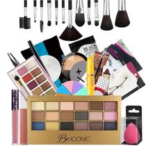 Kit Completo De Maquiagem Ruby Rose Liptint + Sombras Bz75-2 - Bazar Web