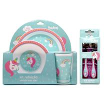 Kit Completo de Refeição Unicórnio Star Buba Toys Girl -