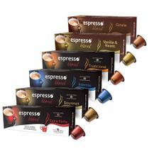 Kit Completo Espresso Blend de Cápsulas de Café - Compatível com Nespresso -