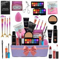 Kit Completo Maquiagem + Caixa Pra Presente Bz116 - Bazar Na Web