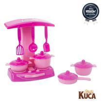 Kit Completo Panelinhas Fogãozinho Acessórios Meninas Mielle - Mielle Brinquedos -