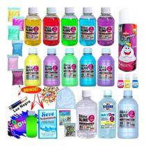 Kit Completo Para Fazer Slimes cola neon - Isa Slime