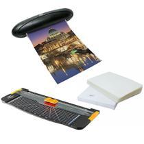 Kit completo Refiladora + Plastificadora 110v + Polaseal A4 - Menno