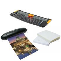Kit completo Refiladora + Plastificadora 220v + Polaseal A4 - Menno