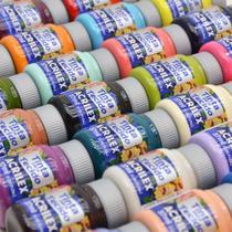 Kit Completo Tintas para Tecido Acrilex: 123 Cores -